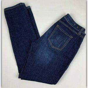 CAbi #3561 High Rise Straight Jeans Dark Wash Sz 4